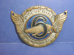 Vintage 1927 Wolverine Radiator Emblem Badge Ct27