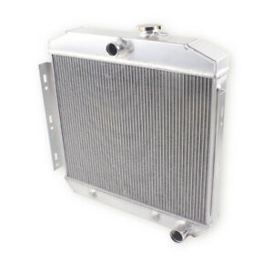 For 1955 1956 1957 Chevy Bel Air Del Ray 150 210 L6 3 Row Aluminum Radiator