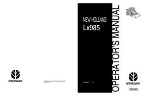 New Holland Lx985 Skid Steer Loader Operator s Manual