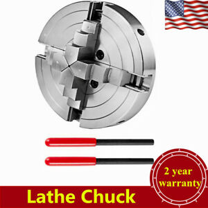 Lathe Chuck Self centering 6inch 4 Jaw For Milling Drilling Machine Usa Stock