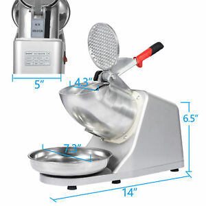 Electric Ice Crusher Shaver Machine Snow Cone Maker Shaved Ice 143 Lbs Cool