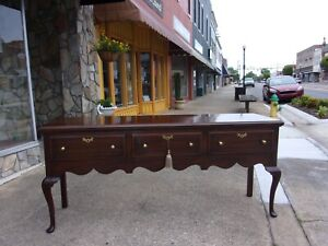 Grand Mahogany Queen Anne Sideboard Crafted By Henkel Harris 20thc