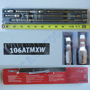 New Snap On 1 4 Drive Wobble Ratchet Extension 6 Pcs Set 106atmxw
