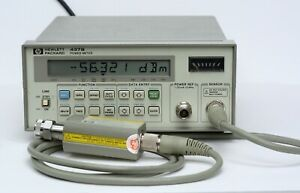 Hp Keysight 437b Power Meter With 8481a Sensor 11730a Cable 10mhz 18ghz