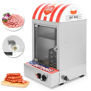Commercial Electric Countertop Hot Dog Steamer Warmer Cooker Machine Bun Food