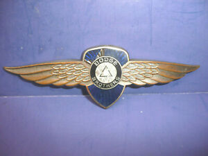 Vintage 1931 32 Dodge Brothers Series 6 Wings Radiator Emblem Enamel Badge Ct27