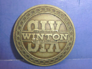Vintage 1900s Winton Six Radiator Emblem Enamel Badge Ct27