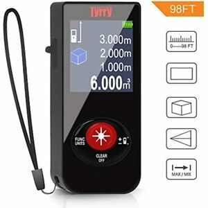 Laser Measure Tyrry Mini Rechargeable Distance Meter With M in ft Mute Lcd Home