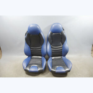1998 2002 Bmw Z3 M Roadster Coupe Front Sport Seats Blue Nappa Leather W O Rails
