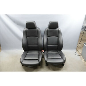 2008 2013 Bmw E82 1 Series Coupe Factory Front Sport Seat Pair Black Leather Oem