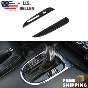 Real Carbon Fiber Shifter Gearbox Console Trim Cover 2015 20 Mustang Auto Only