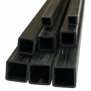 2 Pultruded Square Carbon Fiber Tube 5mm X 5mm X 1000mm