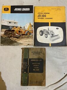 Lot Of Vintage John Deere Tractor And Tractor Loader Manuals Lot Of 4