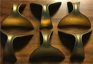 Set 0f 6 1950 S Vtg Whales Tale Brass Atomic Ranch Mid Century Hardware