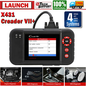 Launch Obdii Scanner Code Reader Engine Transmission Abs Airbag Reset Scan Tool