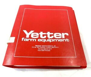 Yetter Farm Equipment 30 Manuals In One Binder dealer store Binder early 90 s