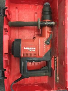 Hilti Te 75 Rotary Hammer Drill With 1 Bit And Case Excellent Condition Sds Max