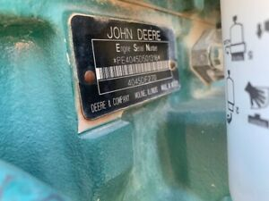 John Deere 4045 Diesel Engine Power Unit Good Runner Video On Request Pto