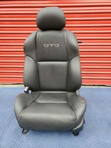 2004 2006 Pontiac Gto Front Driver Seat Power Black Leather Oem Used