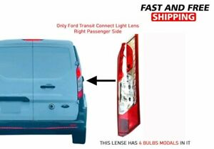 Ford Transit Connect Back Tail Light Lens Right Passenger Side 2014 To 2020