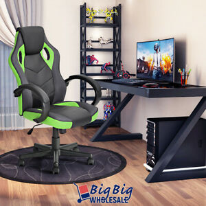 Leather Executive Office Desk Chair Ergonomic Swivel Computer Task Gaming Chair