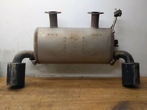 08 13 Infiniti G37 Coupe Convertible Rear Exhaust Muffler Assembly Used Oem