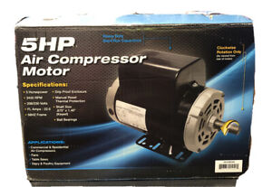 5 Hp 3450 Rpm Air Compressor Electric Motor 208 230 Volts Century B386 New