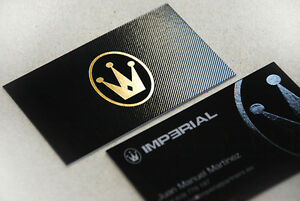 250 500 1000 Business Cards Hot Foil Stamping Gold Silver Etc spot Uv embossed