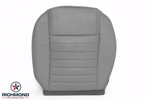 2006 2007 Ford Mustang V8 driver Side Bottom Replacement Leather Seat Cover Gray