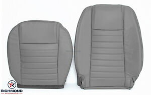 2008 Ford Mustang V8 Gt Driver Side Bottom Lean Back Leather Seat Covers Gray