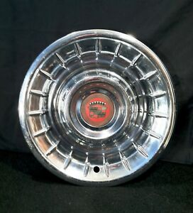 Vintage1956 Cadillac Sombrero Style Single Hubcap Wheel Cover Eldorado Fleetwood