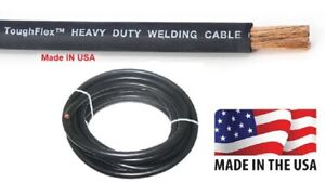 Welding Cable 2 0 Awg 25ft Black Welding Cable Battery Cable 600v Us Made