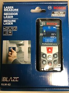 Bosch Laser Measure Glm42 Blaze New Sealed