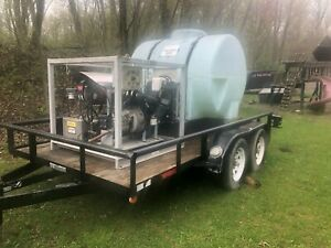 Trailer Mounted Hot Water Kubota Diesel 5gpm 5000psi Commercial Pressure Washer