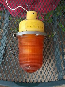 Orange Explosion Proof Light Industrial Man Cave
