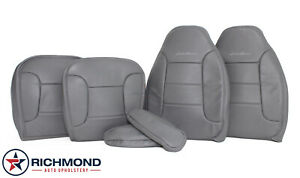 1993 Ford Bronco Eddie Bauer Driver Passenger Complete Leather Seat Cover Gray