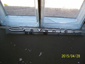 1957 57 Chevrolet Emblem Script Chrome V8 Hood Trunk New Repop Restore Hot Rod