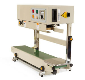 Vertical Plastic Bag Band Sealing Machine Continuous Automatic Sealer 220v