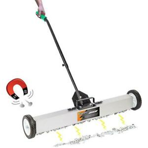 36 Magnetic Pick up Sweeper With Wheels Race Stables 91x18x85cm Clean Tools