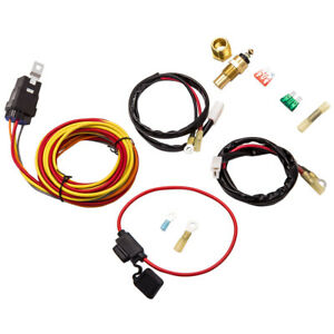 Electric Cooling Fan Wiring Thermostat Harness Relay Kit 185 165 Degree 40amp