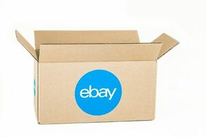 Ebay Shipping Supplies 25 Ct corrugated Boxes 12 X 6 X 6 Blue Logo Last One