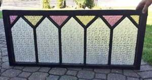 Antique Window Stained Glass Textured Glass Transom Privacy