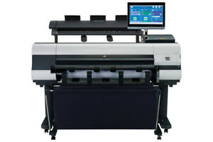 Canon Ipf830 Wide Format Plotter W Colortrac Scanner