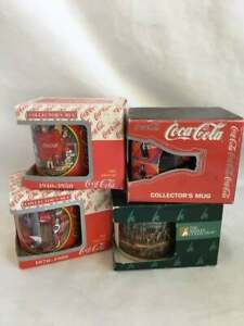 Vintage Collectible Coca Cola Mugs the era of
