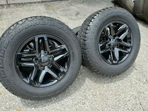 18 Wheels Tires Fits Chevy Sierra Silverado Z71 Trail Boss Rims Black Gmc