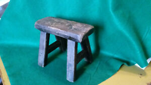 Primitive Antique Vintage Style Wood Stool Doll Chair Display Step Saw Horse