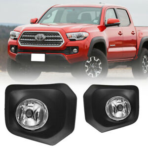 2016 2019 Toyota Tacoma Fog Lights Clear Bumper Lamp With Switch And Wiring Kit
