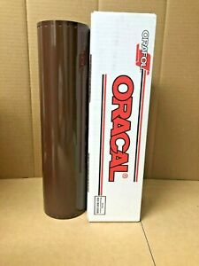 Oracal 651 1 Roll 15 X 10yd 30ft Brown 080 Gloss Sign Vinyl