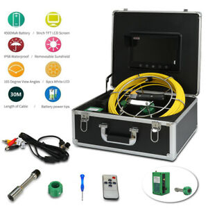 9 Lcd 30m Sewer Waterproof Camera Pipe Pipeline Drain Inspection System In Usa