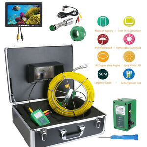 7 Lcd 50m Sewer Waterproof Camera Pipe Pipeline Drain Inspection System In Usa